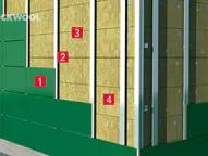 Prevetrávaná fasáda - izolácia medzi zvislými roštami
